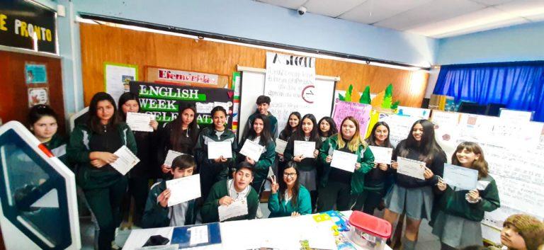 Ganadores de english week celebration